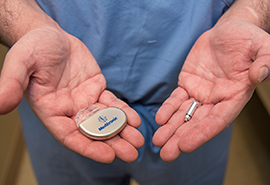 Medtronic Micra™ pacemaker in hands