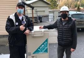 Skagit Regional Health receives sub-zero freezer donation for COVID vaccine storage