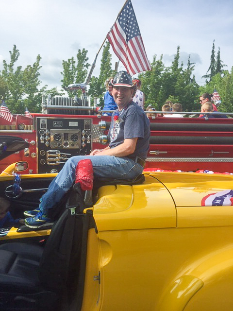 Jerry Rides in 4th of July Parade