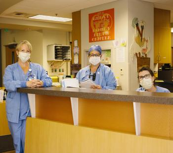 Staff at the Family Birth Center in masks