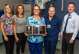 Radiology Team with Award
