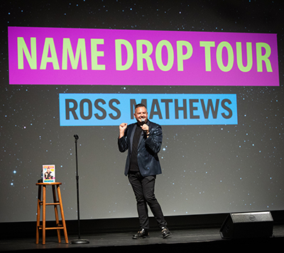 Ross Mathews on stage at the Lincoln Theatre