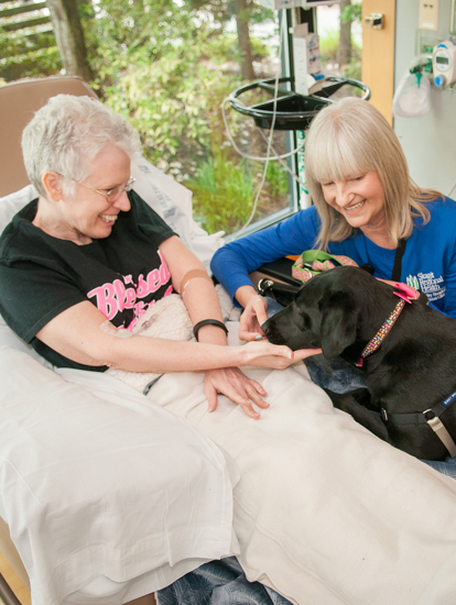 VolunteerCancerCare-TherapyDogs
