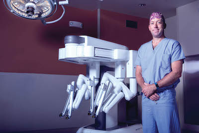 Doctor with daVinci surgical robot