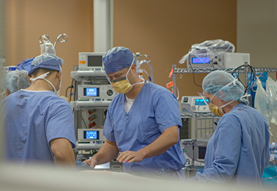 surgical staff in surgery